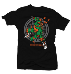 Turtle Power Black/Orange Tee