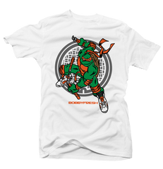 Turtle Power White/Orange Tee