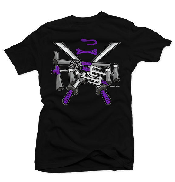 Turtle (Purple) Black Tee