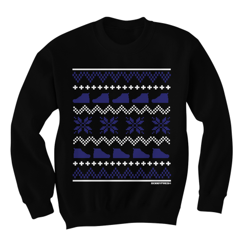Ugly Sweater Space Jam Black Crewneck