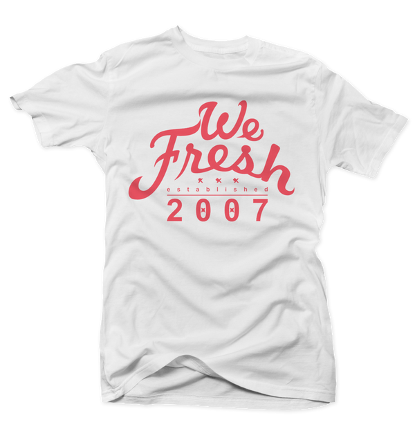 We Fresh Hot Lava White Tee - Bobby Fresh