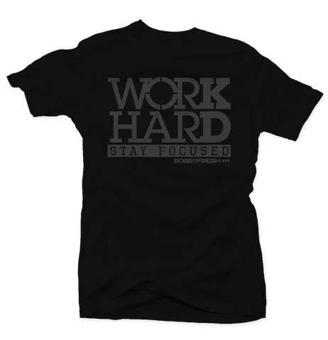 Work Hard Black Pinnacle Tee