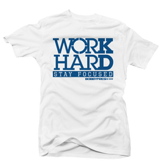 Work Hard Wht/Flint Tee