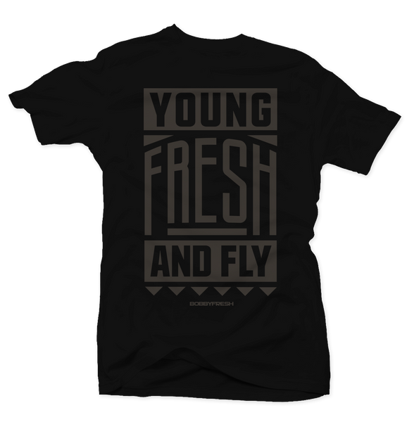 Young Fresh & Fly Black Tee (Ovo 12's)