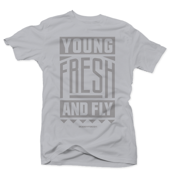 Young Fresh and Fly Grey/Grey Tee