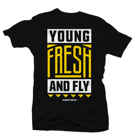 Young Fresh and Fly Black/Yellow Tee