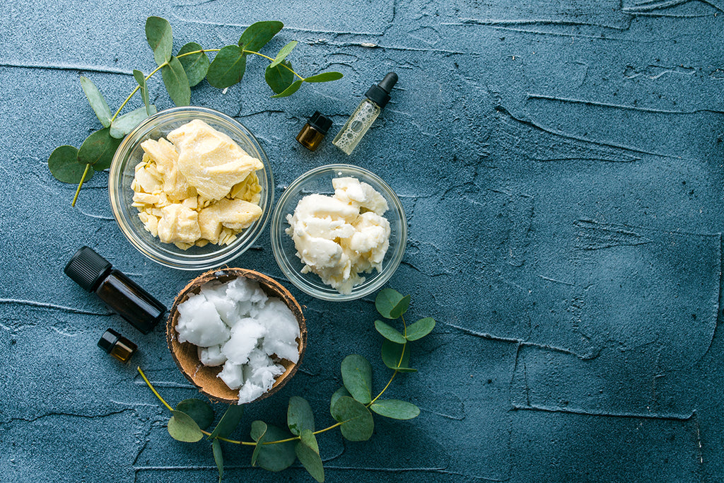 coconut oil and shea butter