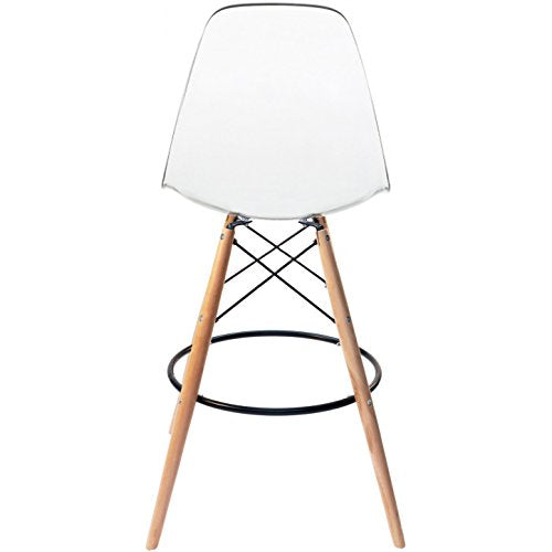 Incredible 2Xhome Clear 28 Seat Height Dsw Molded Plastic Bar Stool Modern Barstool Counter Stools With Backs And Armless Natural Legs Wood Eiffel Legs Short Links Chair Design For Home Short Linksinfo