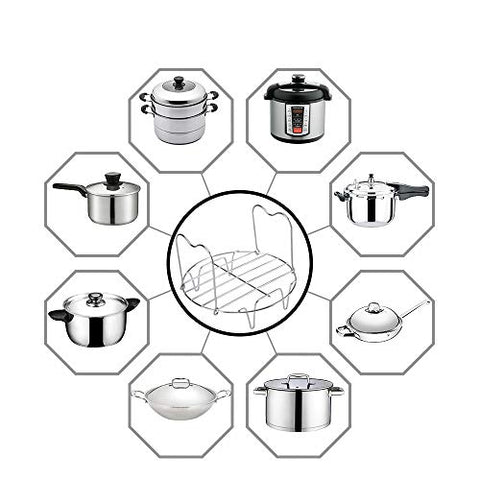 Lakatay Steamer Rack Trivet With Handles For Instant Potelectric