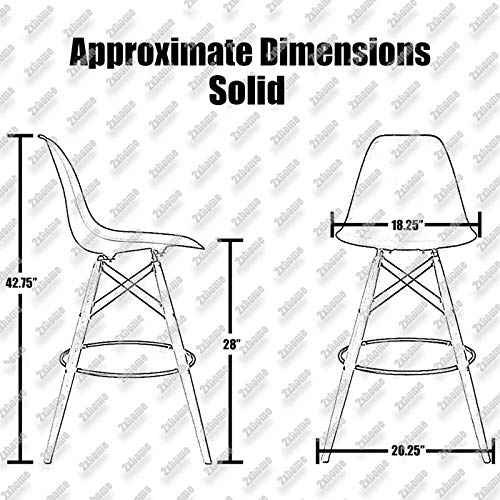 Brilliant 2Xhome Clear 28 Seat Height Dsw Molded Plastic Bar Stool Modern Barstool Counter Stools With Backs And Armless Natural Legs Wood Eiffel Legs Short Links Chair Design For Home Short Linksinfo