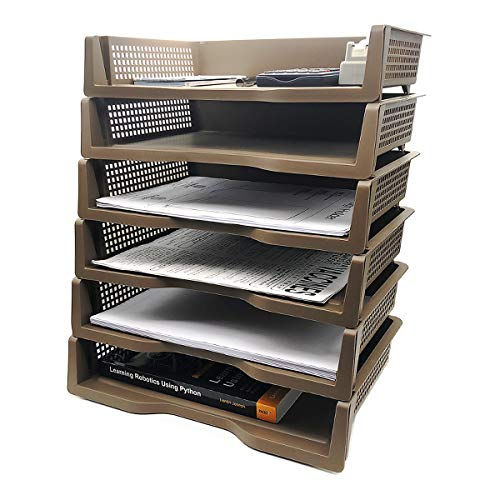Stackable Desktop Document Letter Tray Organizer Accessories Paper Tray,  Multi Layer File Sorter Storage