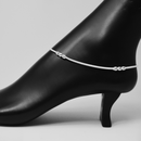 Silver Anklet (K1 Design) - 10.5 inches