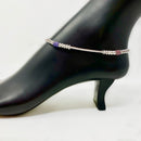 Silver Anklet (K61 Design) - 10.5 inches