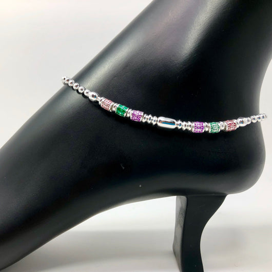 Silver Anklet (K67 Design) - 10.5 inches