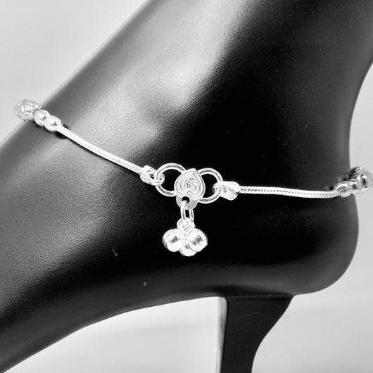 Silver Anklet (K70 Design) - 10.5 inches