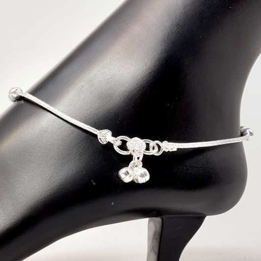 Silver Anklet (K76 Design) - 10.5 inches