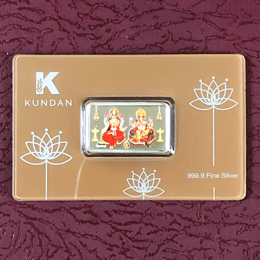 999 Lakshmi Ganesha Pure Silver 10 Grams Bar (Design 3)