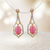 American Diamond Designer Earring in Pink Color (E18)