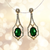 American Diamond Designer Earring in Green Color (E17)