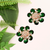 American Diamond Designer Earring in Green Color (E25)