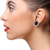 American Diamond Designer Earring in Red Color (E30)