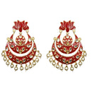 Bejeweled Red Lotus Design in Chandbali Style