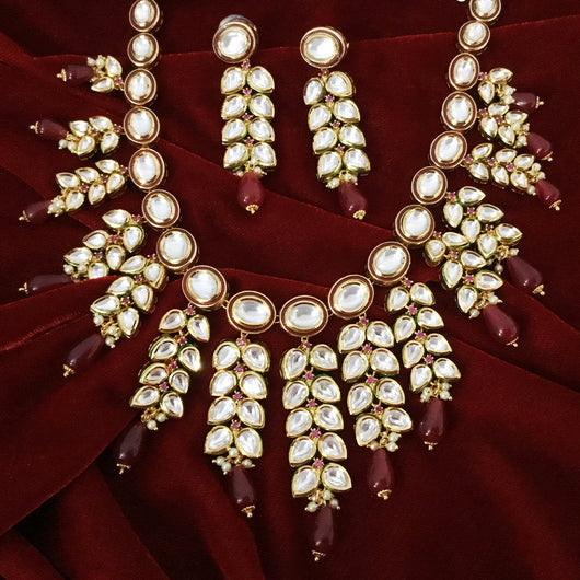 Gold Plated Bridal Premium Kundan Set (Design 63)