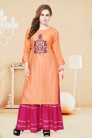 Cotton Kurti with Sharara (D72)