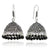Leafy Designer Jhumki with Hook and Black beads