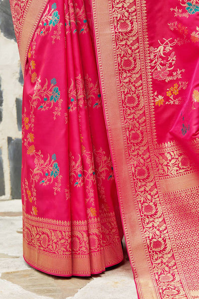 Banarasi Silk Designer Pink Color Saree