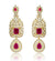 Dangle Semi Precious Ruby American Diamond Earrings