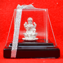 999 Pure Silver Lakshmi Idol with sitting on lotus