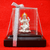 999 Pure Silver Square Lakshmi Idol with Orange Headrest