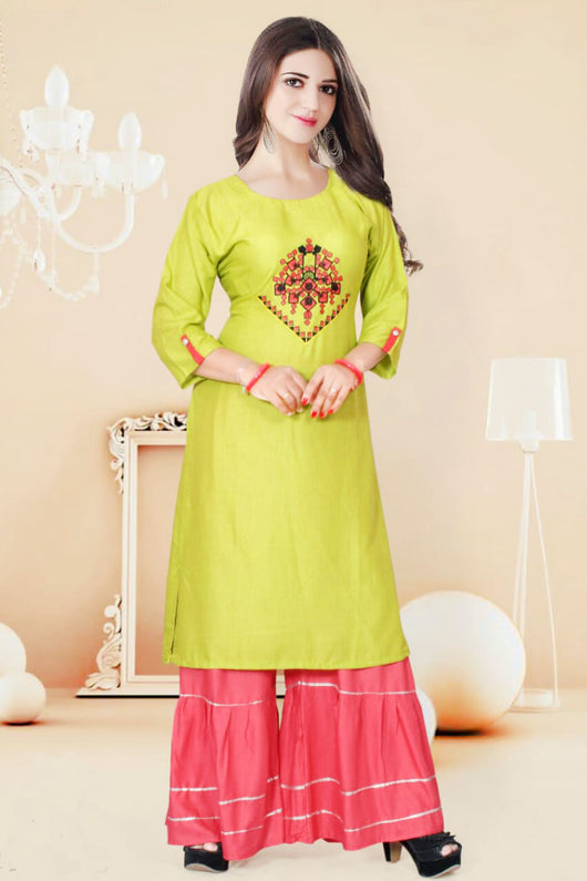 Cotton Kurti with Sharara (D78)
