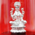 999 Pure Silver Lakshmi Circular Idol sitting on Lotus