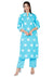Indian Ethnic Blue Color Kurti Plazzo Set (K2)