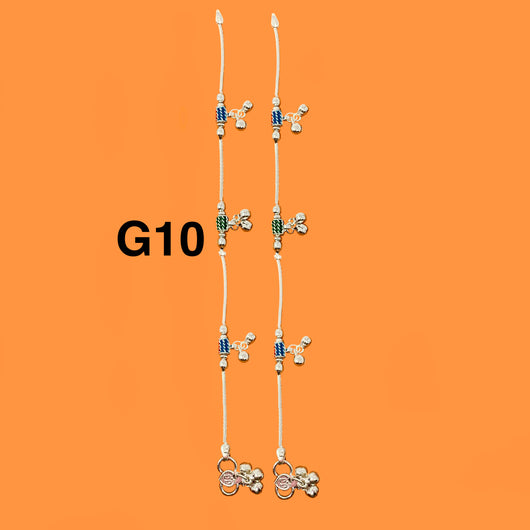 Silver Anklet (G10 Design) - 8.5 inches