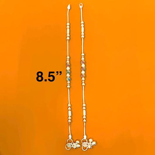 Silver Anklet (G12 Design) - 8.5 inches