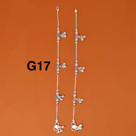 Silver Anklet (G17 Design) - 8.5 inches