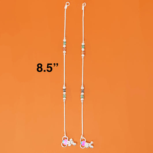 Silver Anklet (G19 Design) - 8.5 inches