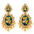 Radha Krishna Oval Shape Figure Earrings