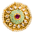 Adjustable Gold Plated Kundan Ring (D2)