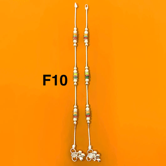 Silver Anklet (F10 Design) - 8 inches