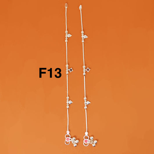 Silver Anklet (F13 Design) - 8 inches