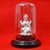 999 Pure Silver Lakshmi Circular Idol with Red Headrest