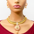 Designer Gold Plated Baby Pink and Semi-Precious Ruby Set