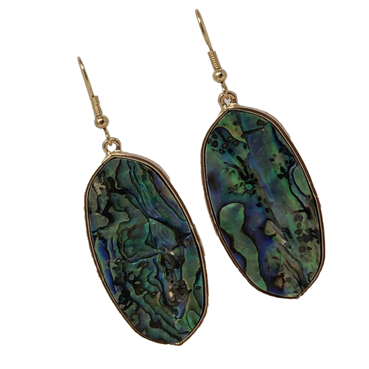 Natural Stone Green Oval Earring