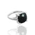 925 Sterling Silver Black Onyx Gemstone Ring (D1)