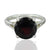 925 Sterling Silver Garnet Gemstone Ring (D3)