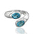 925 Sterling Silver Blue Topaz Gemstone Ring (D6)